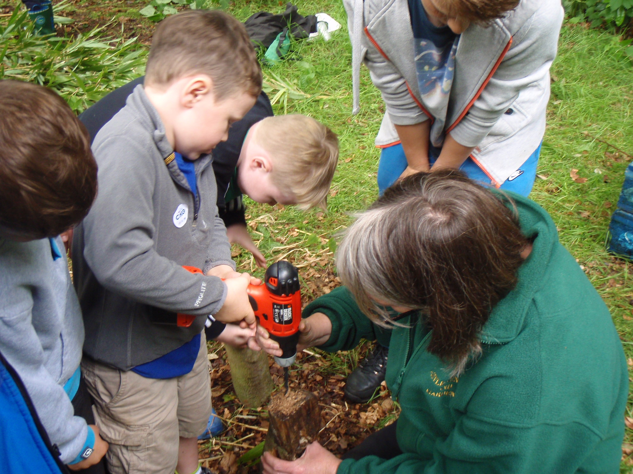 Everyone worked hard with the Garden Ranger to make the minibeasts welcome in the new Hotel