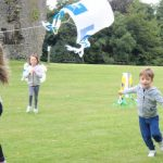 High flying plastic bag kites