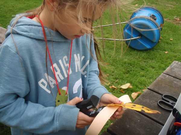 Castle Kennedy Garden Ranger Leaf Art Activity