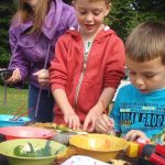 Making leaf Art with the Castle Kennedy Garden Ranger